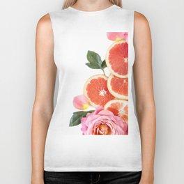Grapefruit & Roses 04 Biker Tank