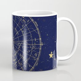 Metallic Gold Vintage Star Map 2 Coffee Mug