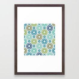 Retro flower Framed Art Print