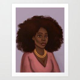 Kiara African American Woman  Art Print