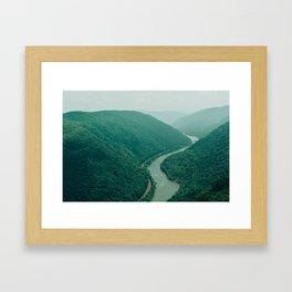 New River Gorge Wilderness Framed Art Print