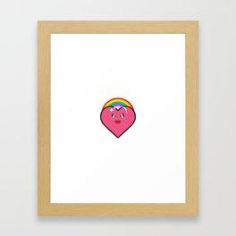 Rainbow Heart Human Right Equality Framed Art Print