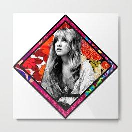 Stevie Nicks Flower Power Metal Print