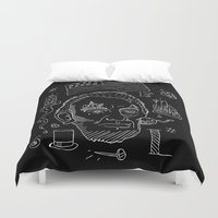 lincoln Duvet Covers featuring Abraham Lincoln by Maioriz Home