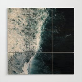 Oceanscape - White and Blue Wood Wall Art
