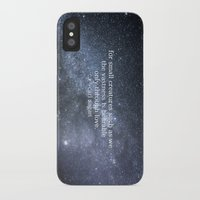 sagan iPhone & iPod Cases featuring Carl Sagan and the Milky Way by Astrophotos by McLeod