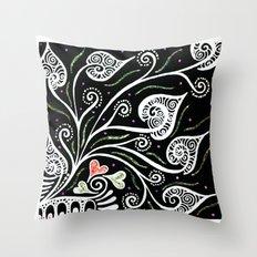 Night Blooming Throw Pillow