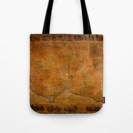 Map Of Flushing 1841 Tote Bag