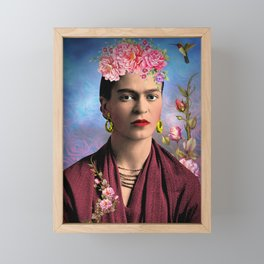 Friday kahlo Framed Mini Art Print