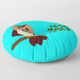 A Wise Ole Owl on a Branch Floor Pillow