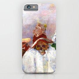 Masks Mocking Death portrait painting by James Ensor iPhone Case