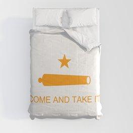 Texas Come and Take It Flag - Orange Comforters