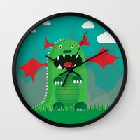 dragons Wall Clocks featuring Dragons! by SkippyZA