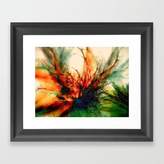 Frosen Flower Framed Art Print