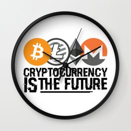 Cryptocurrency Is The Future Quote Wall Clock