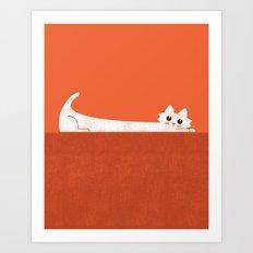 Mark's Superpower: cat Superstretch Art Print