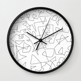 Where now? (Black) Wall Clock