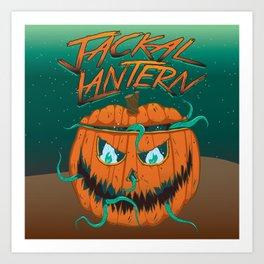 Jackal Lantern Art Print