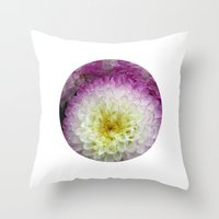 dahlia Throw Pillows featuring dahlia by blackpool