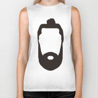 beard Biker Tanks featuring Beard by jorgeink