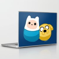finn and jake Laptop & iPad Skins featuring  Finn and Jake by Mayying