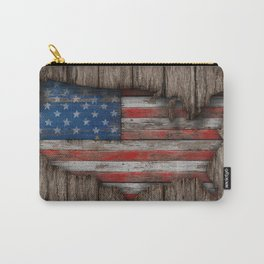 American Wood Flag Carry-All Pouch