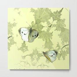à feuilles vertes 2 Metal Print