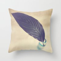 botanical Throw Pillows featuring Botanical by Jessica Torres Photography