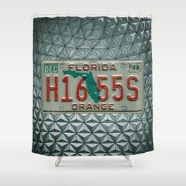 Orange County Florida Tag Automotive Car License Plate Shower Curtain