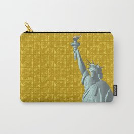 Statue of Liberty on Gold-leaf Screen Carry-All Pouch