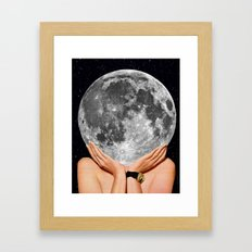 La luna - moon art Framed Art Print