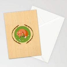 sleeping mr fox Stationery Cards