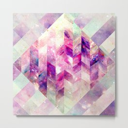 Abstract Geometric Pink Galaxy Metal Print