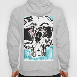 Red white and blue skull Hoody
