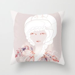 Portrait with Chick Throw Pillow
