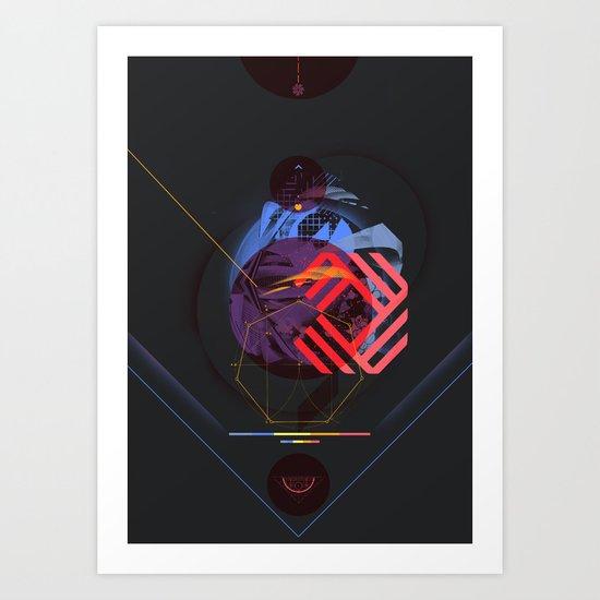 Chaotic Polygon Ensemble Art Print