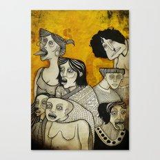 Brujas cara de pizza Canvas Print