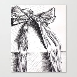 Bow Baby Canvas Print