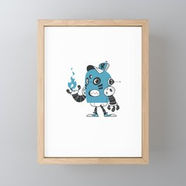 Fire Robot Framed Mini Art Print