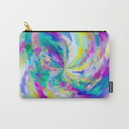 colorful splash painting abstract in pink green blue yellow Carry-All Pouch
