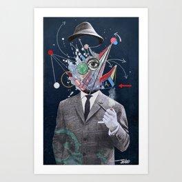 ALLEGORICAL MAN Art Print