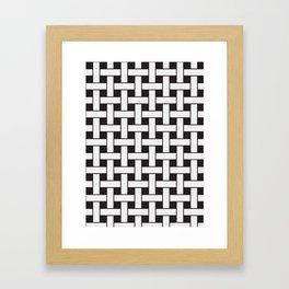 Plane Weave Seamless Pattern. Framed Art Print