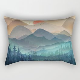 Wilderness Becomes Alive at Night Rectangular Pillow
