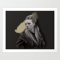 vikings Art Prints featuring Lagertha - Vikings by firatbilal
