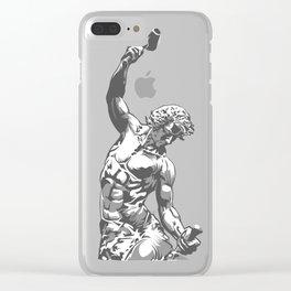 Self-Made Men statue Clear iPhone Case