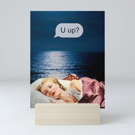 U up? Late night texts Mini Art Print