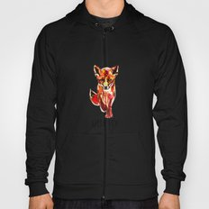 Cute Little Red Fox water colour ink Hoody