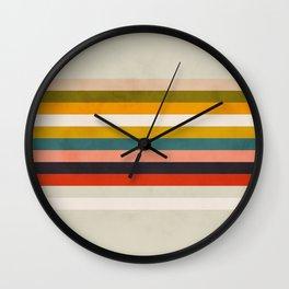 modern abstract stripe geometric Wall Clock