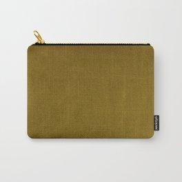 Ochre Yellow Velvet Texture Carry-All Pouch