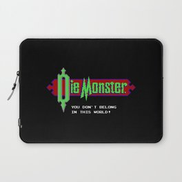 Castlevania - Die Monster. You Don't Belong In This World! Laptop Sleeve